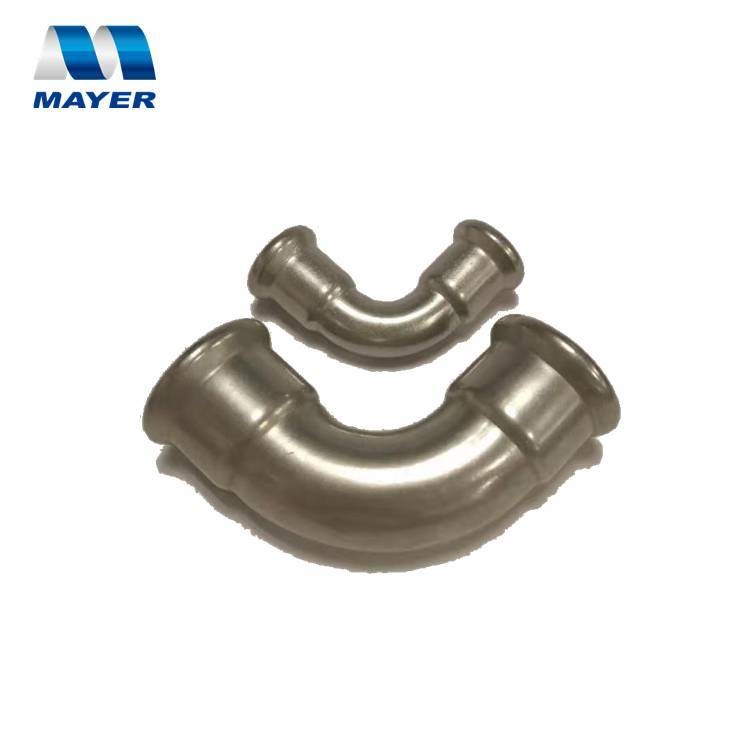 Stainless Steel tube press fittings M Profile 90degree Elbow for heating system