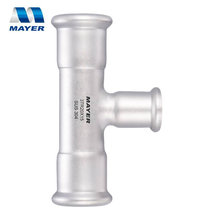 Pipe fitting Reducing Tee Stainless Press Fitting AS3688