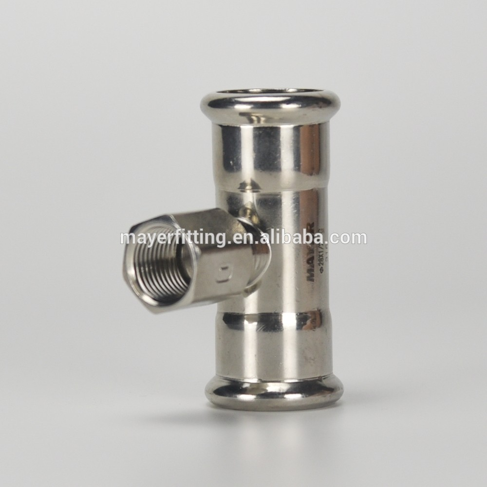 China Supplier Tee Pipe Fitting Female Branch 28x1/2