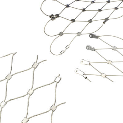 DIY Install Design Longevity AISI 316 Stainless Steel Wire Rope Zoo Animal X-Tend Mesh