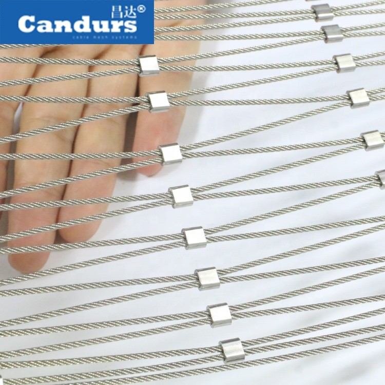 Stainless Steel Rope Mesh Fall Protection Cable Guardrail Pedestrian Bridge Safety Net