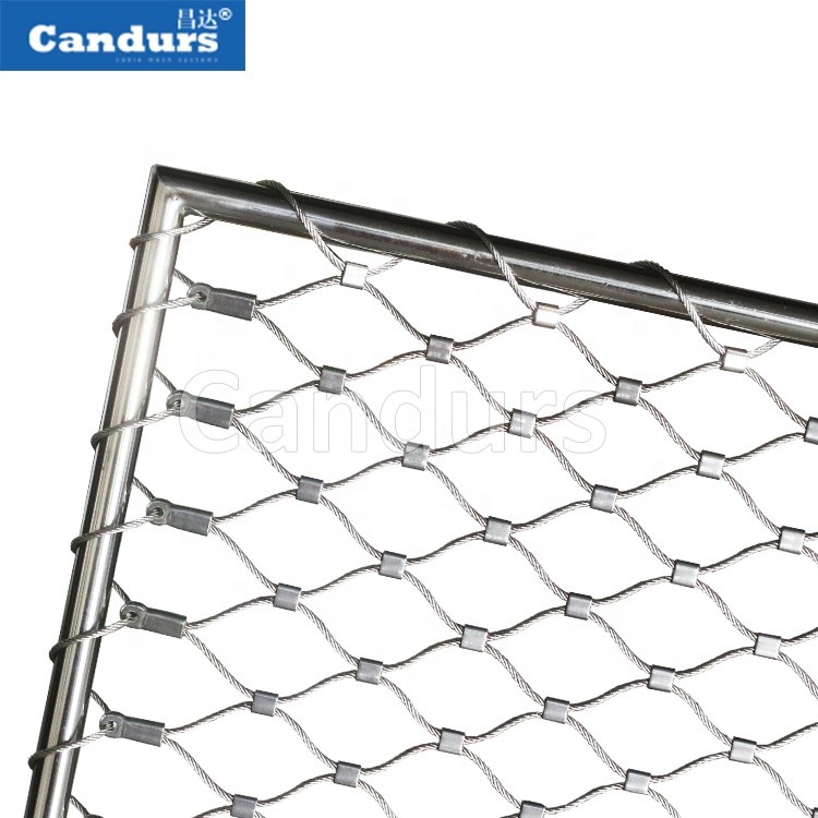 Stainless Steel Wire Rope Cable Mesh Animal Enclosure Zoo Protection Fence