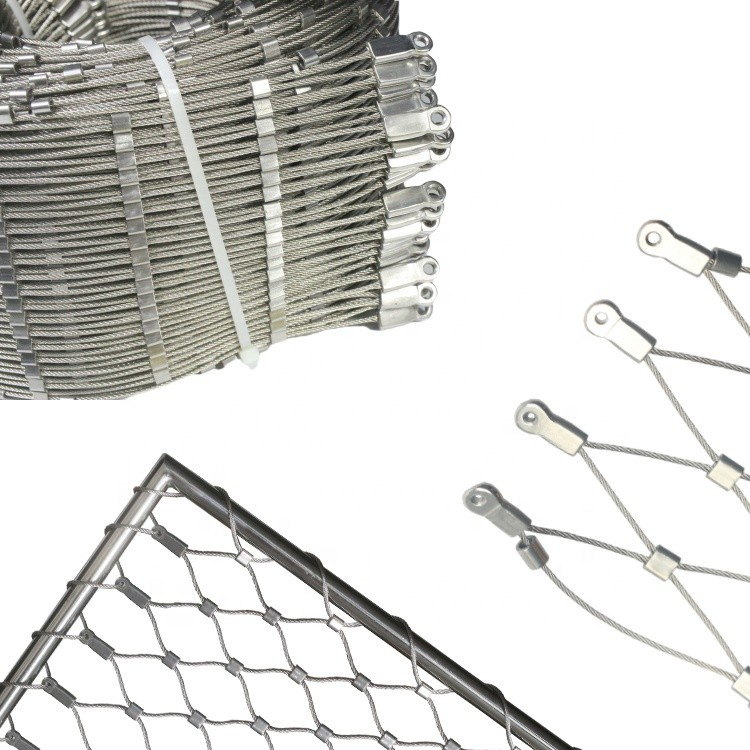 Longevity Diy Mounting Design Tensile AISI 316 Stainless Steel Cable Webnet Mesh