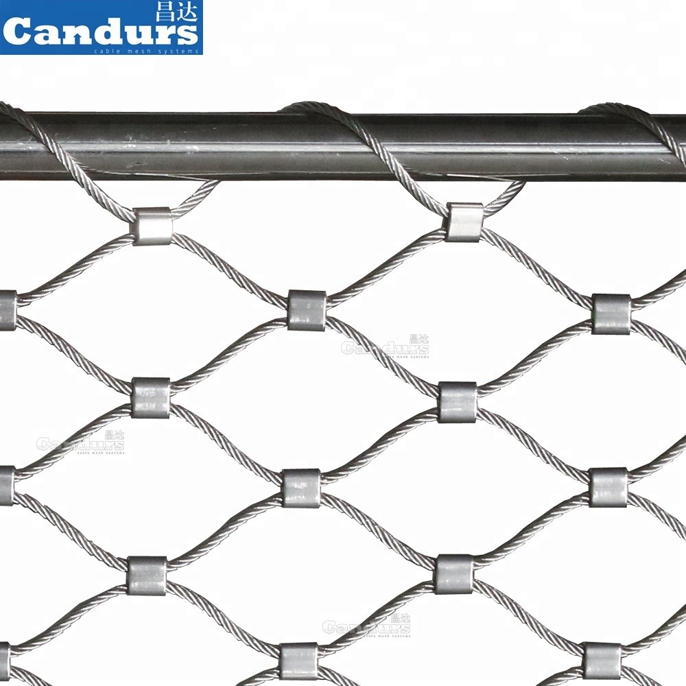 Stainless Steel Wire Rope Helideck Perimeter Safety Net