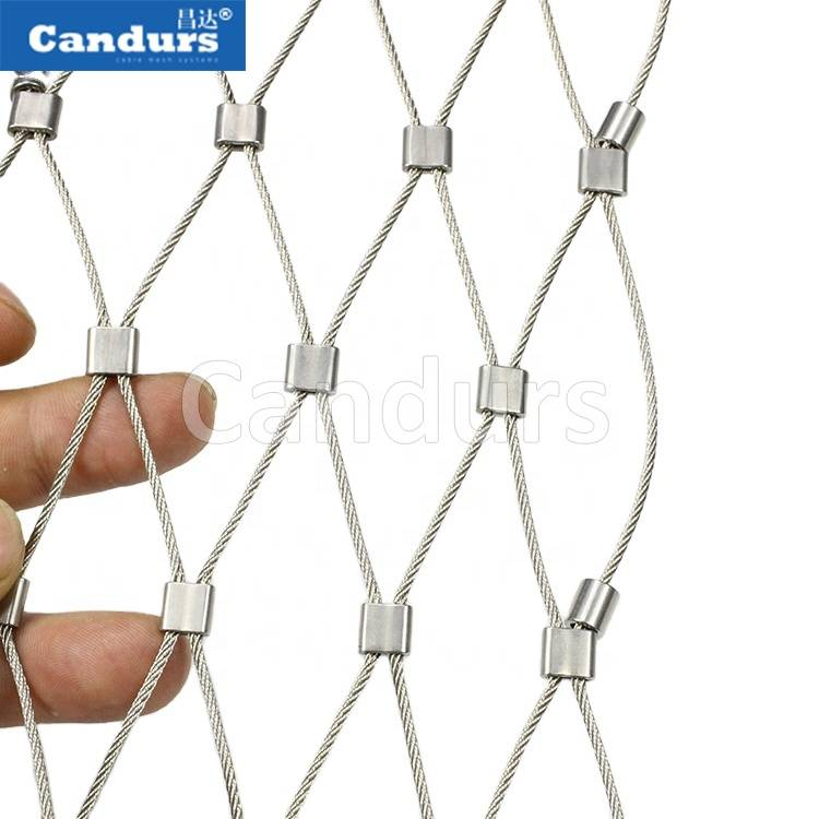Design Stainless Steel Wire Rope Mesh Railing