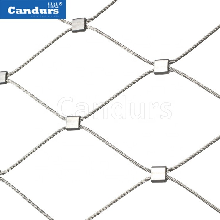 316 Flexible Stainless Steel Wire Rope Mesh Net For Green Wall