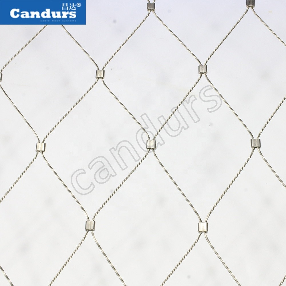 Custom Flexible 316 Wire Rope Mesh Trellis For Climbing Plants