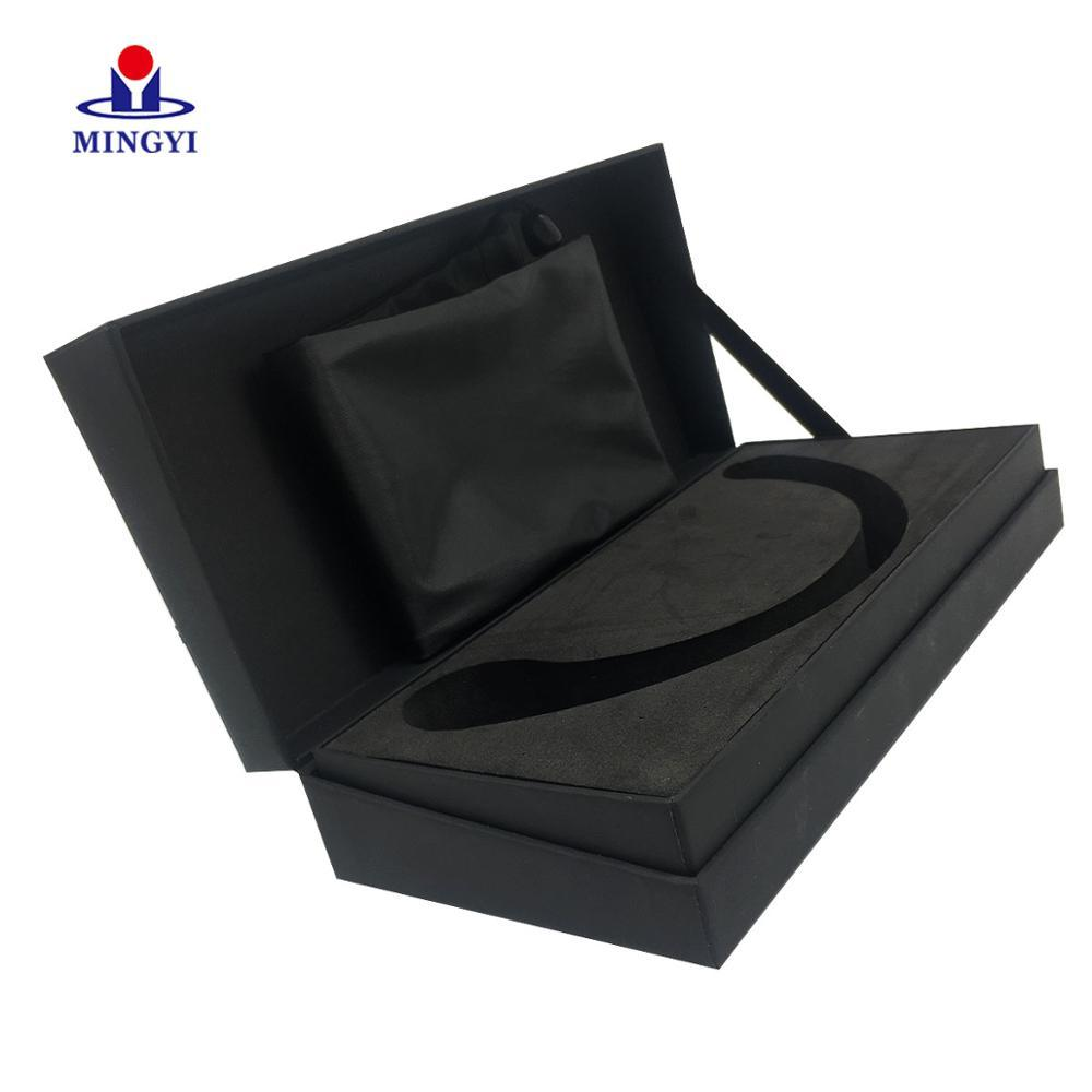 Black Rigid Kraft Paper Packaging Hook Display Custom Printed Gift Boxes Rectangular Wedding Dress Food Grade Cardboard Box