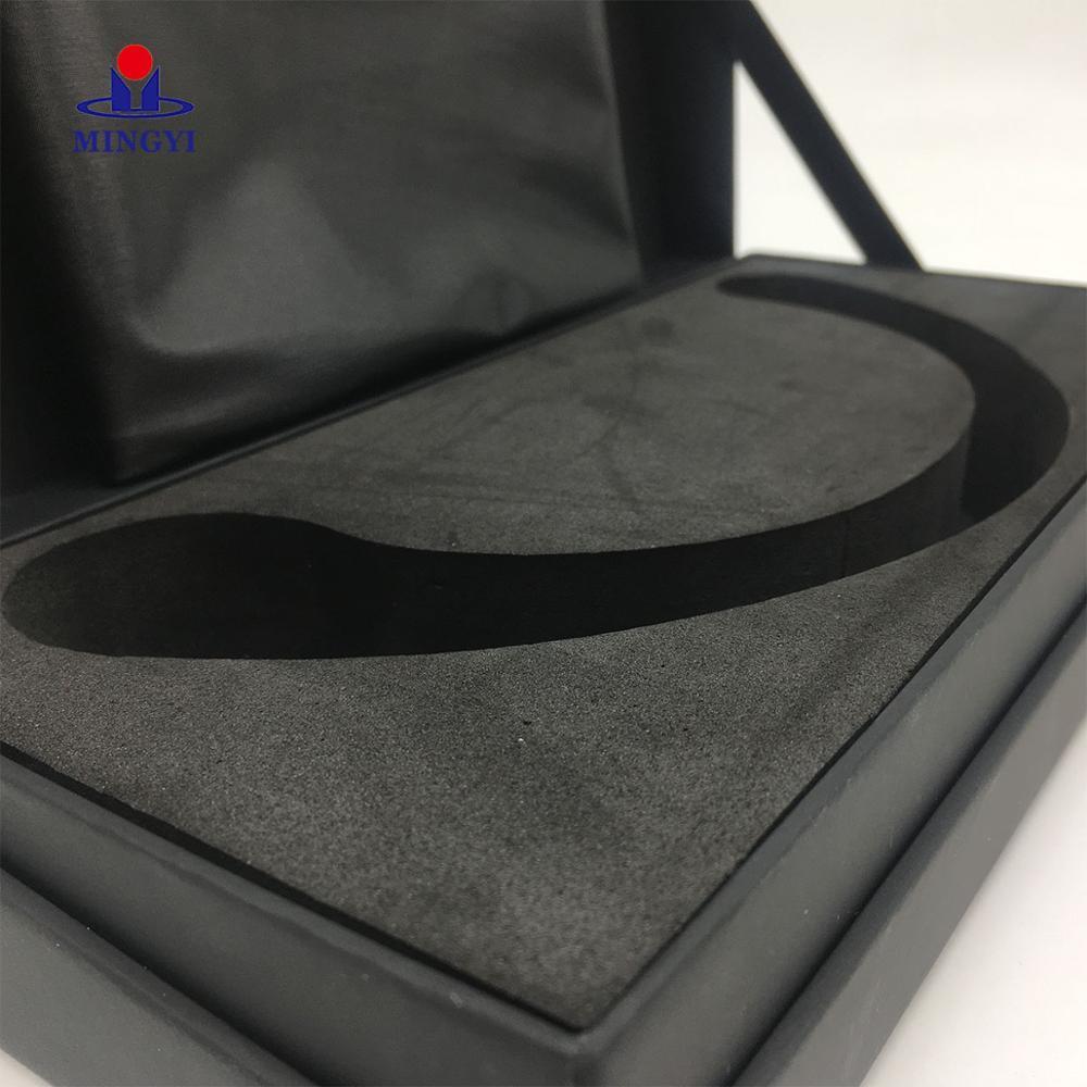 Black Rigid Kraft Paper Packaging Hook Display Custom Printed Gift Boxes Rectangular Wedding Dress Food Grade Cardboard Box