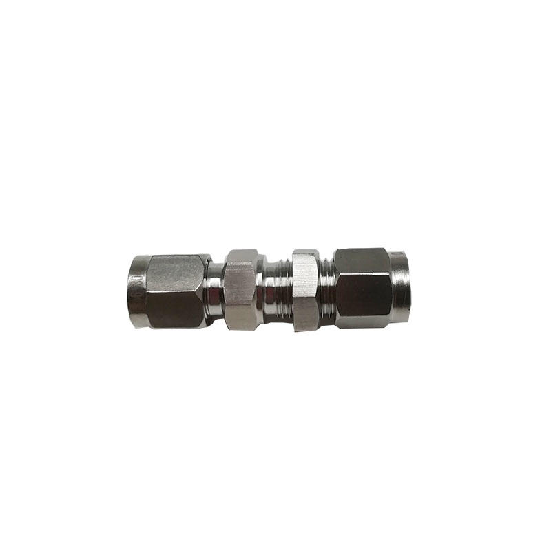 Straight-through baffle joint BKT-PM6/BKT-PM8 stainless steel pipe fittings hydraulic hose fittings