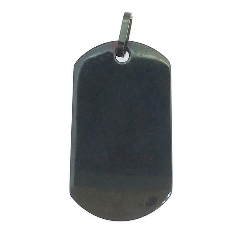 Wholesale Stainless Steel Black Enamel Dog Tag Pendant