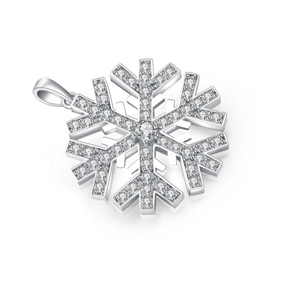 Top Quality Christmas Snowflake Shape Silver Charms
