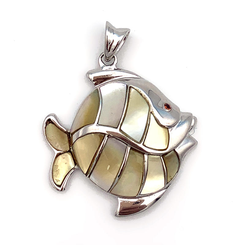 China Direct Supplier Cute Birthday Gift Sea Fish Charm Pendant With Shell