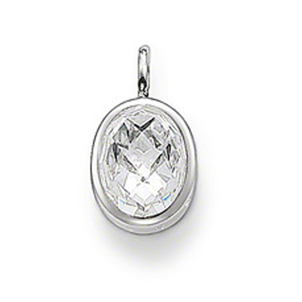 Hot selling June birthstone oval moonstone pendant