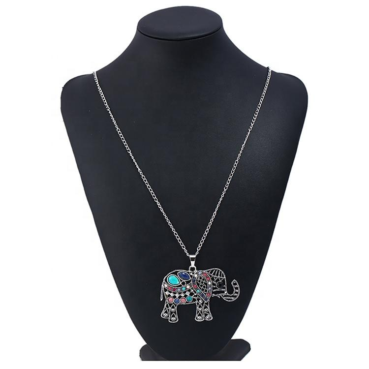 New Hot Style Jewelry Retro Simple Fashion Chain Resin Elephant Pendant Necklace