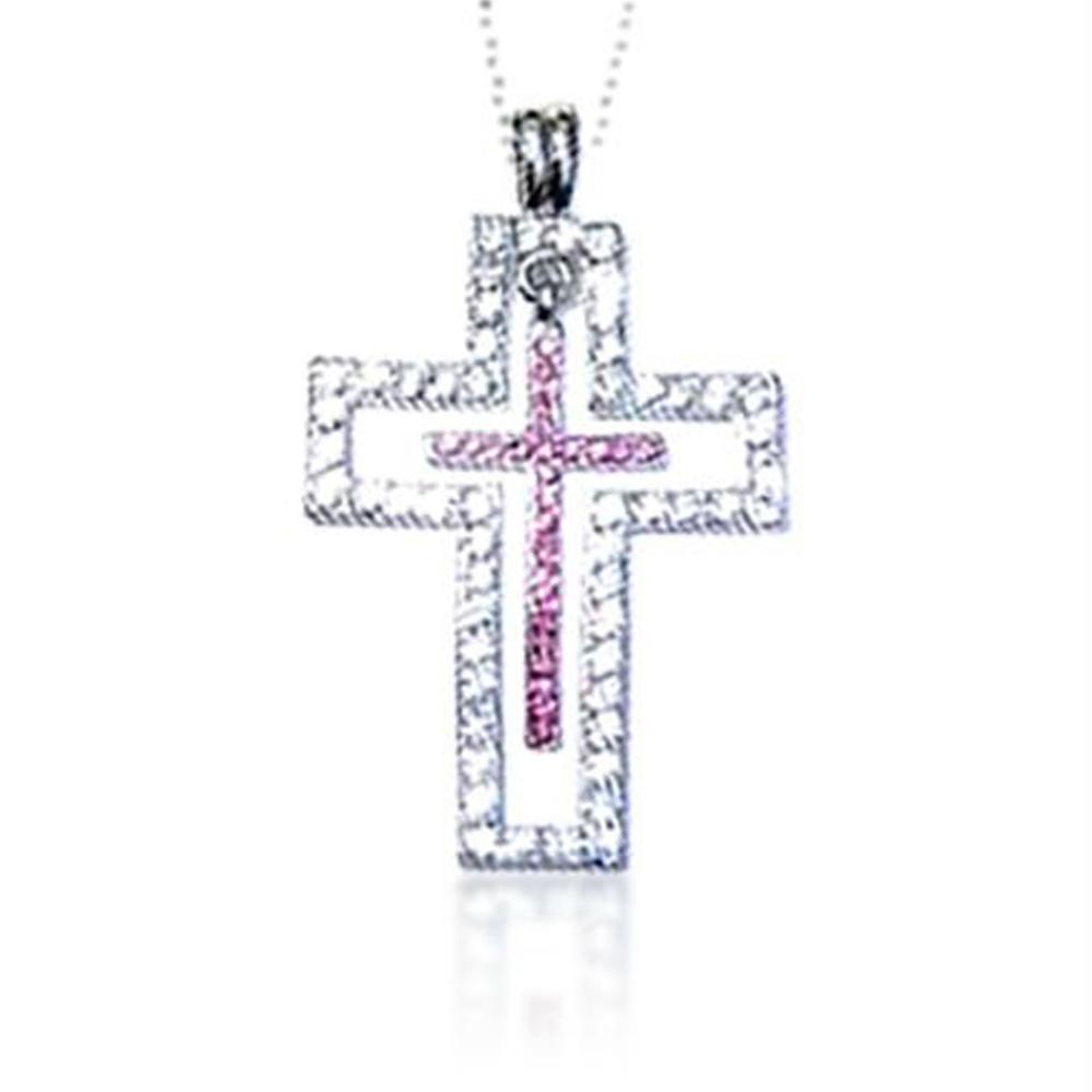 Cheap wholesale cz silver cross christian jewelry