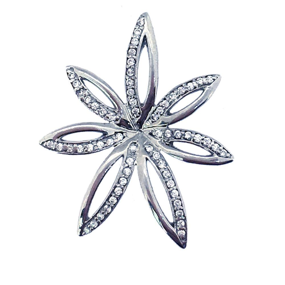 Polished wholesale silver leaf design man woman charm jewelry