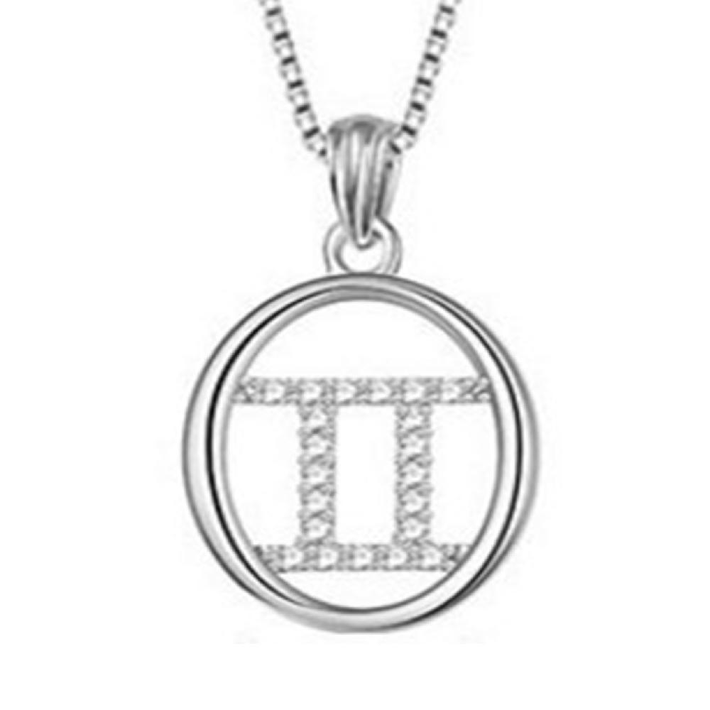Zodiac Aquarius solid 925 silver jewelry pendant