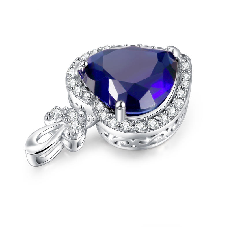 Fashion custom design heart shape 925 silver pendant jewelry