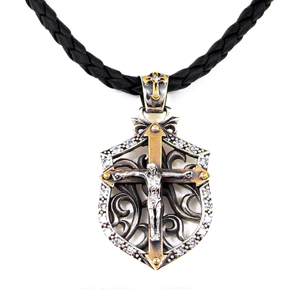 Unique china stainless steel whole sale christian cross