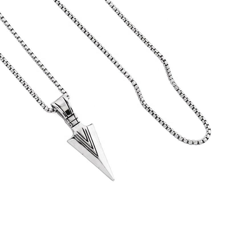 Sword Shape Design Shiny Wholesale Pendants Stainless Steel