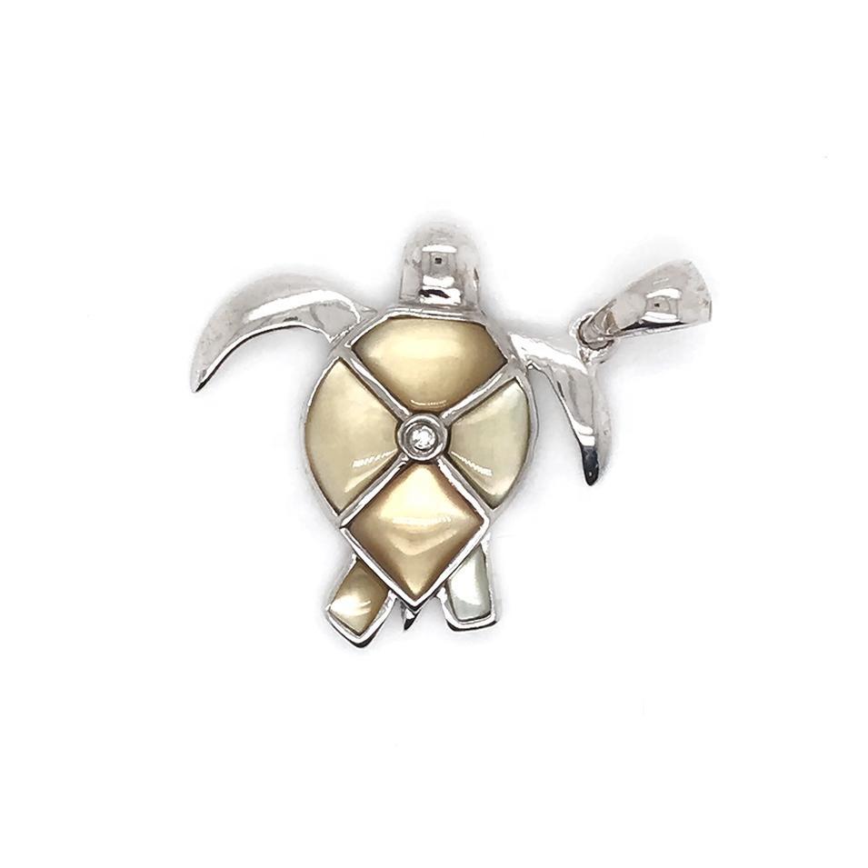 Fashion Design Silver Wholesale Sea Turtle Pendant With Pearl Oyster