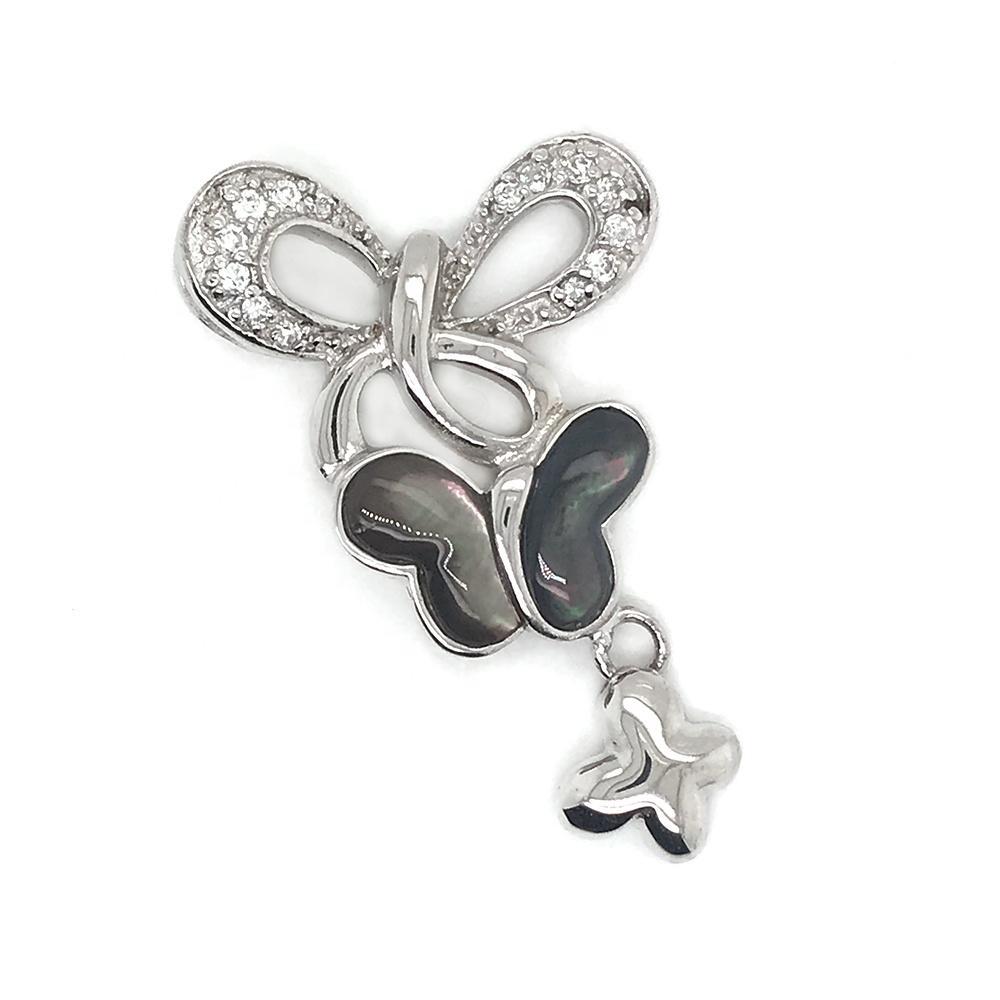 Hollow Cz Butterfly Pearl Oyster Silver Jewelry Photo Locket Pendants