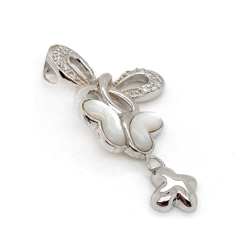 Wholesale Fashion Girls Three Lovely Butterflies Fly Design 925 Silver Charms