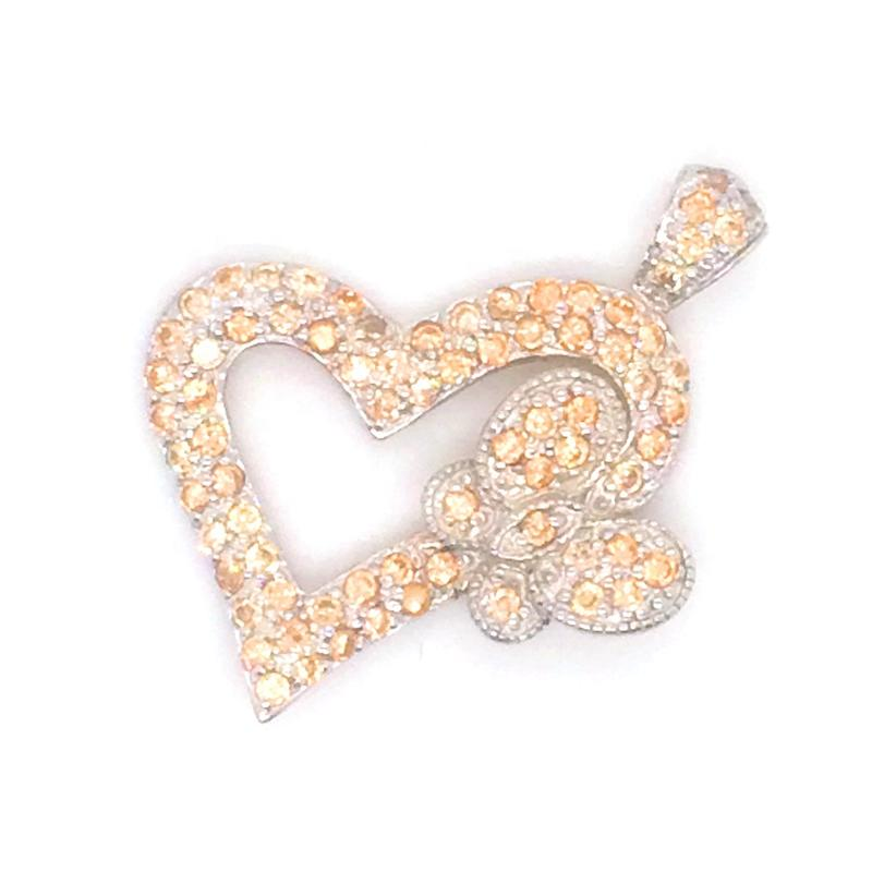 Charming Rest Butterfly Silver Bijoux Heart Shape Gold Pendant Mountings