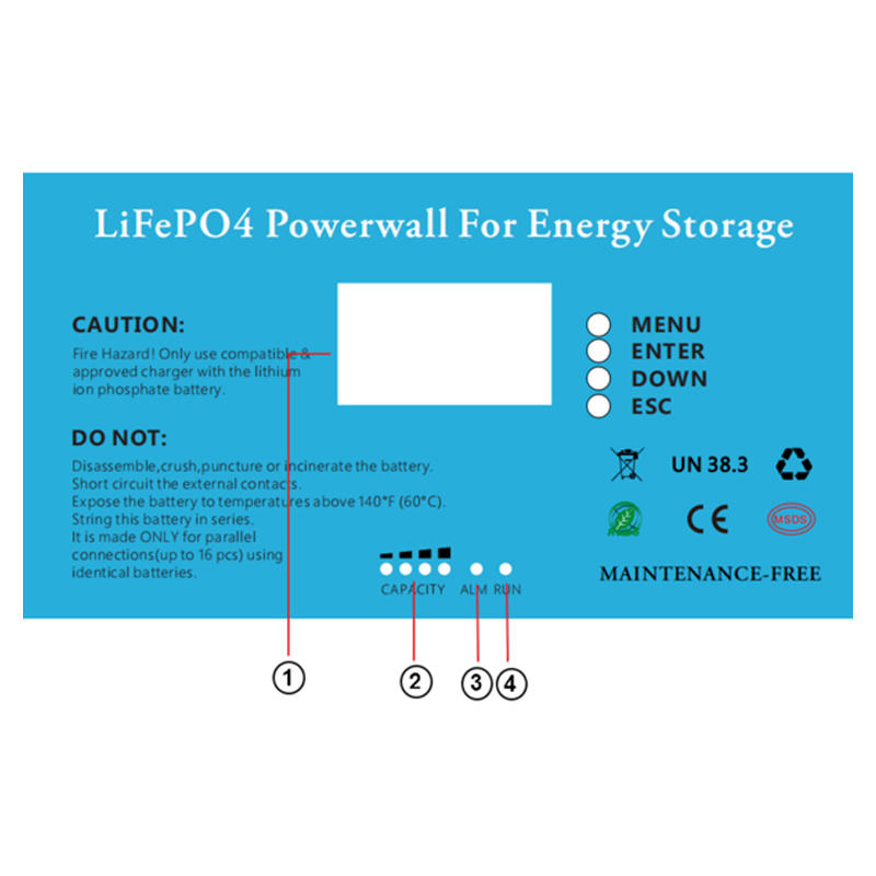 High capacity durablepowerwall lithium battery for solar energy storage 48v 100ah