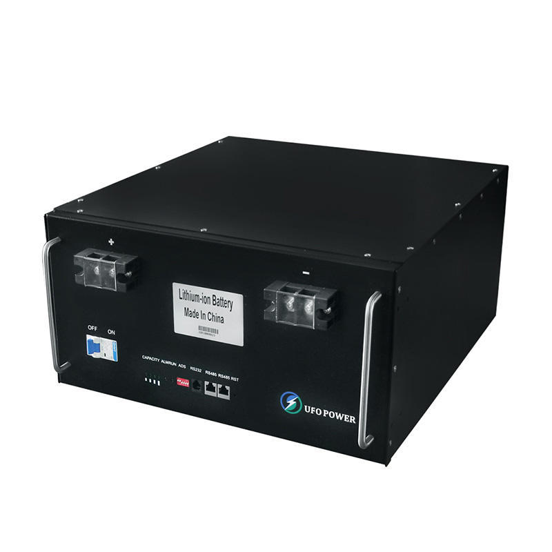 High quality 100ah four terminal lcd monitor black 48v rack-mounted lifepo4 lithium battery