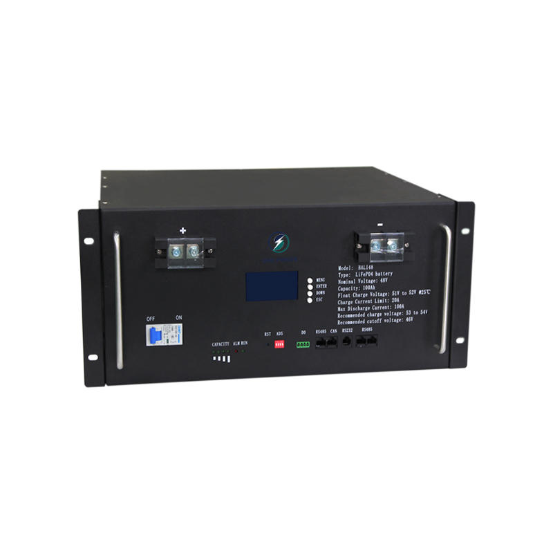 Hot selling 100Ah lcd display four-section environmental protection 48V rack-mounted lifepo4 lithium battery