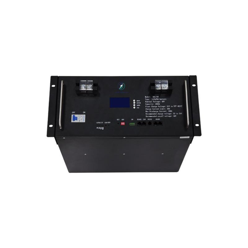 Advantage price 100Ah lcd display four-terminal 48V rack-mounted lifepo4 lithium battery