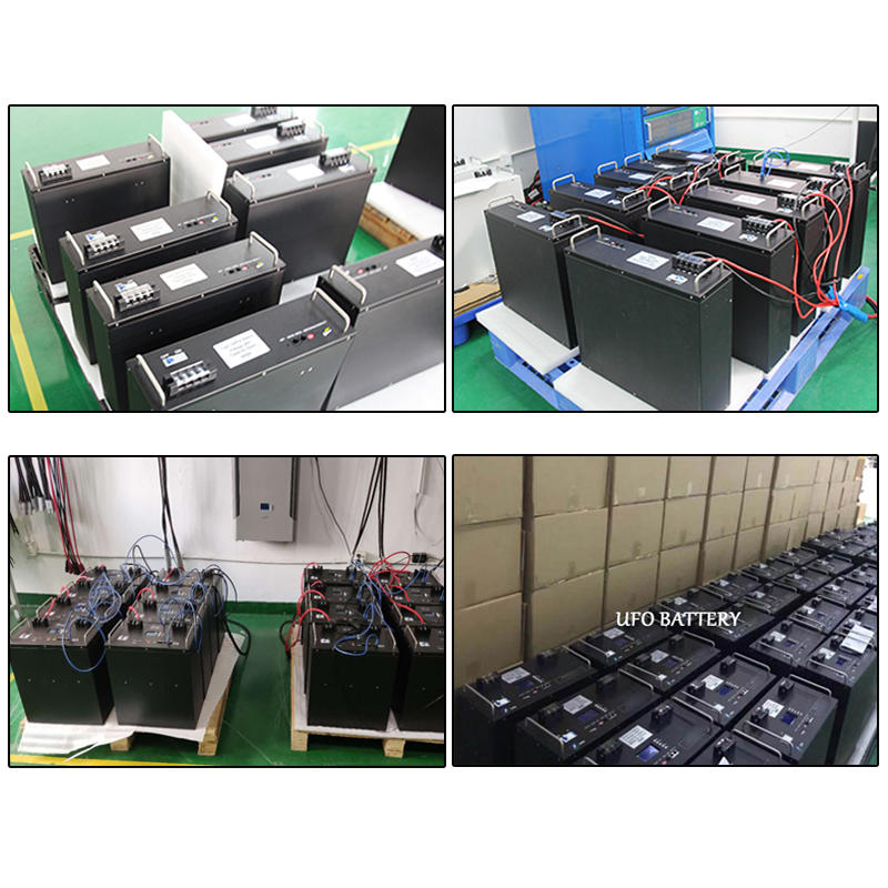 Factory direct sale 100ah four terminal lcd display 48v rack-mounted lifepo4 lithium battery