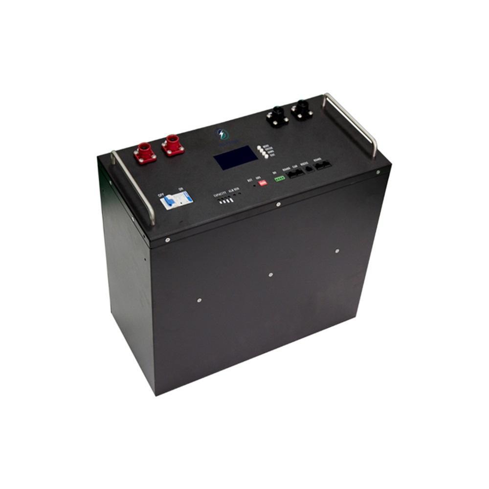 Hot selling 100ah large capacity lcd monitor black 48v rack type lifepo4 lithium battery