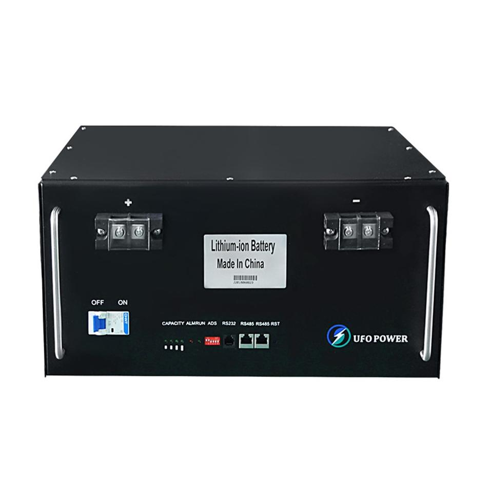 Hot sale 100ah four terminal lcd monitor environmental protection 48v rack type lifepo4 battery