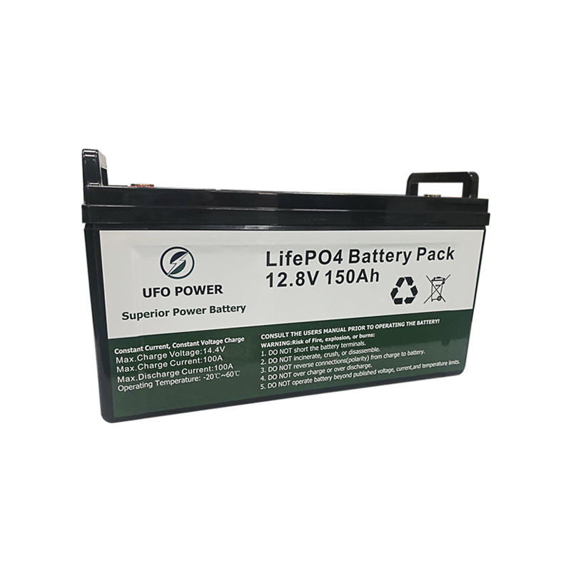 Deep cycle 12.8V 150Ah Solar Lithium BatteryLiFePO4 Battery Pack