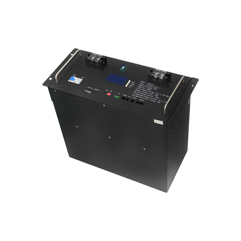 Factory direct sale 100Ah lcd display four-terminal 48V rack-mounted lifepo4 lithium battery
