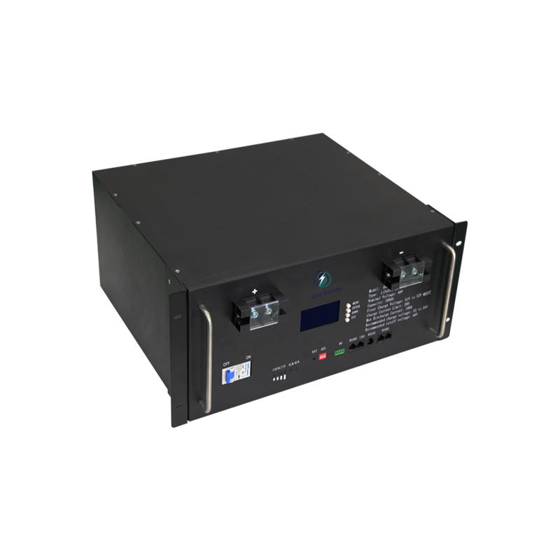Advantage price 100Ah lcd display four-terminal 48V rack-mounted lifepo4 lithium battery
