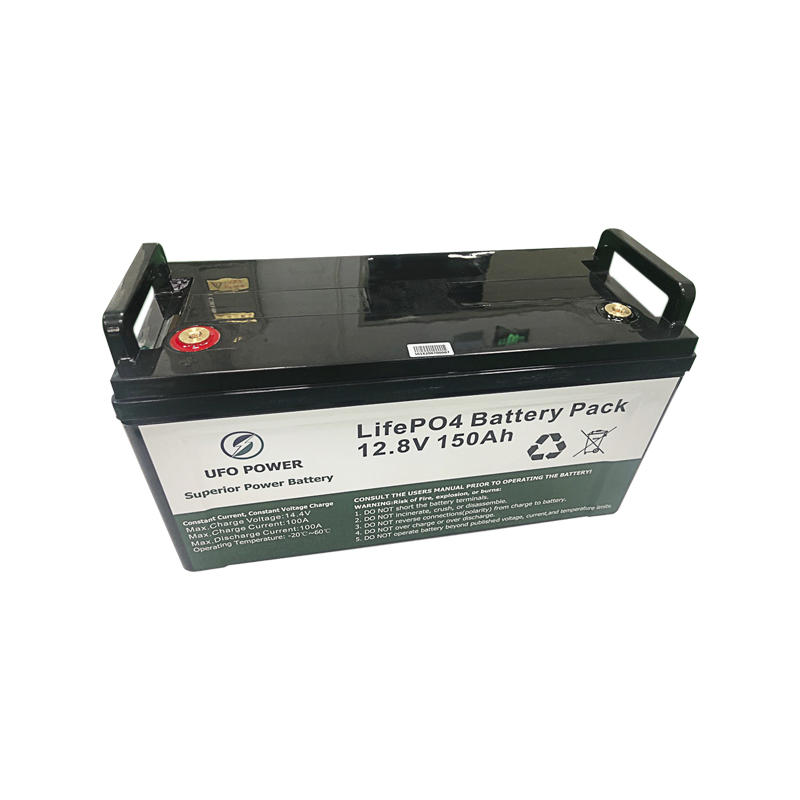 Deep cycle 12.8V 150Ah Solar Lithium BatteryLiFePO4 Battery Pack