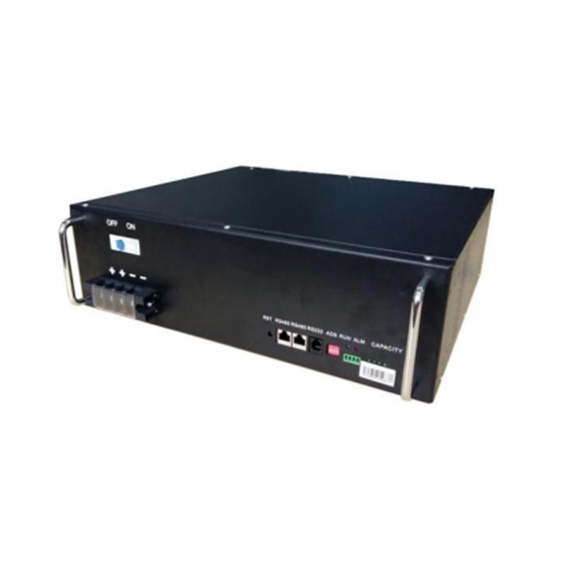 Advantageous price 50Ah black 48V rack-mounted lifepo4 lithium battery