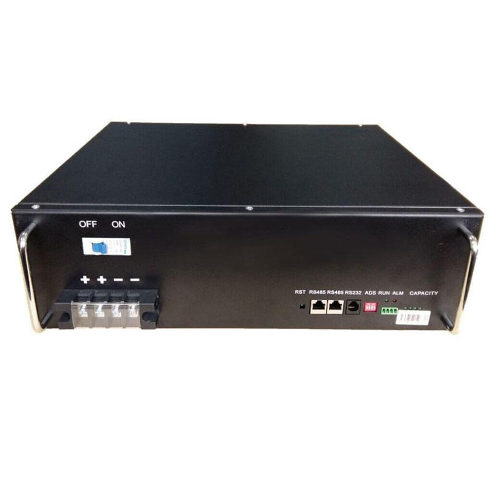 Cost-effective 50Ah black environmentally friendly 48V rack-mounted lifepo4 lithium battery