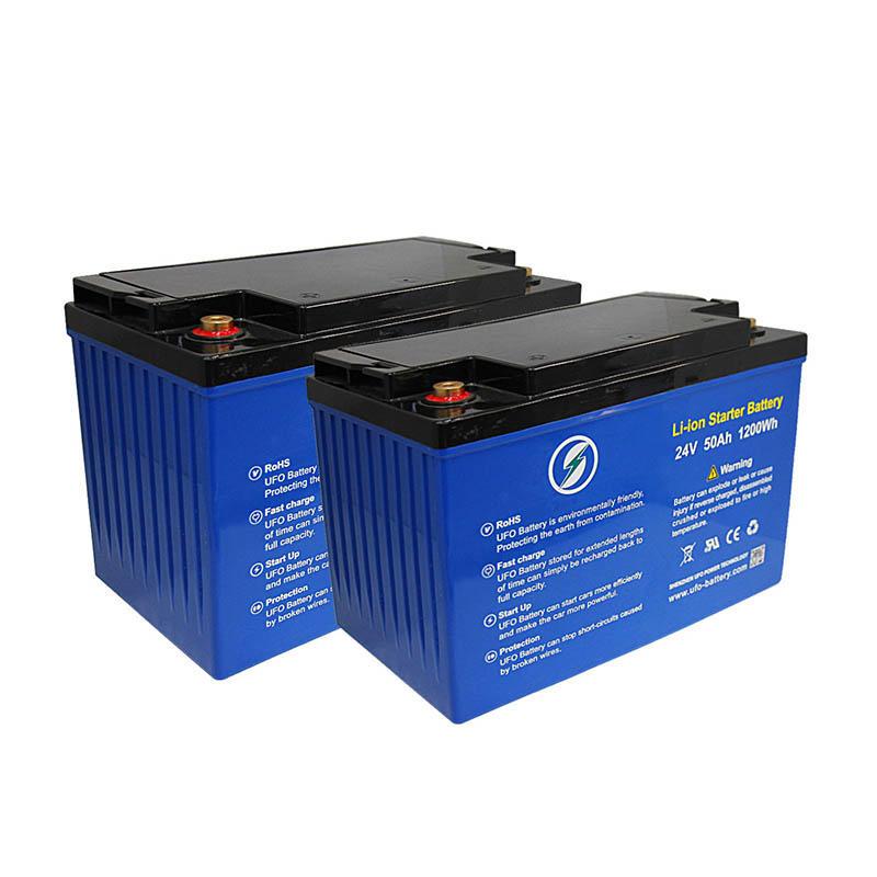 Deep cycle 24V 50Ah Solar Lithium BatteryLiFePO4 battery pack