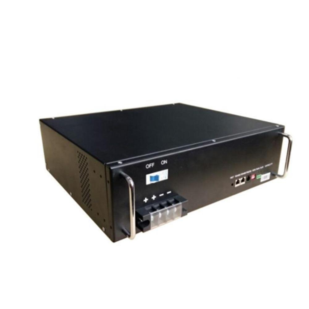 Hot sale 50Ah black durable 48V rack-mounted lifepo4 lithium battery