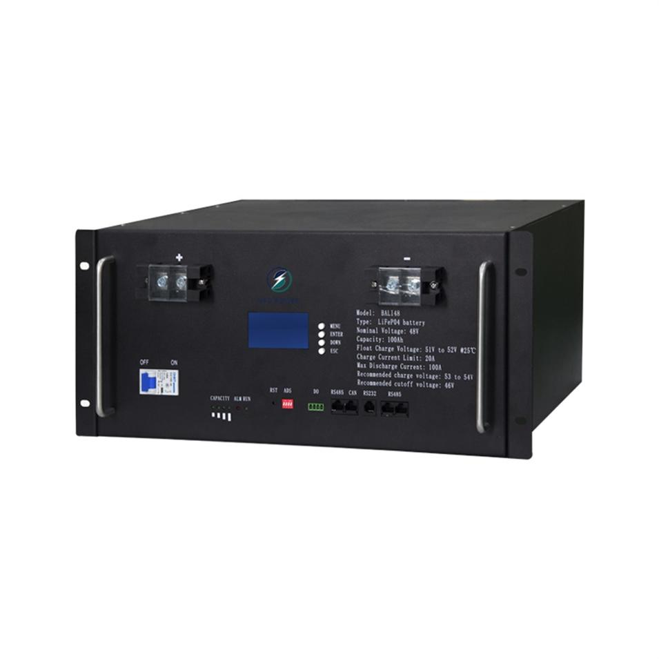 High quality 100Ah lcd display four-terminal environmentally friendly 48V rack-mounted lifepo4 lithium battery