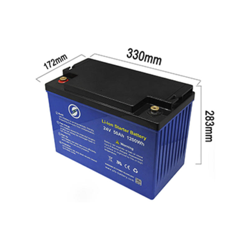 Deep cycle 24V 50Ah Solar Lithium BatteryLiFePO4 battery pack