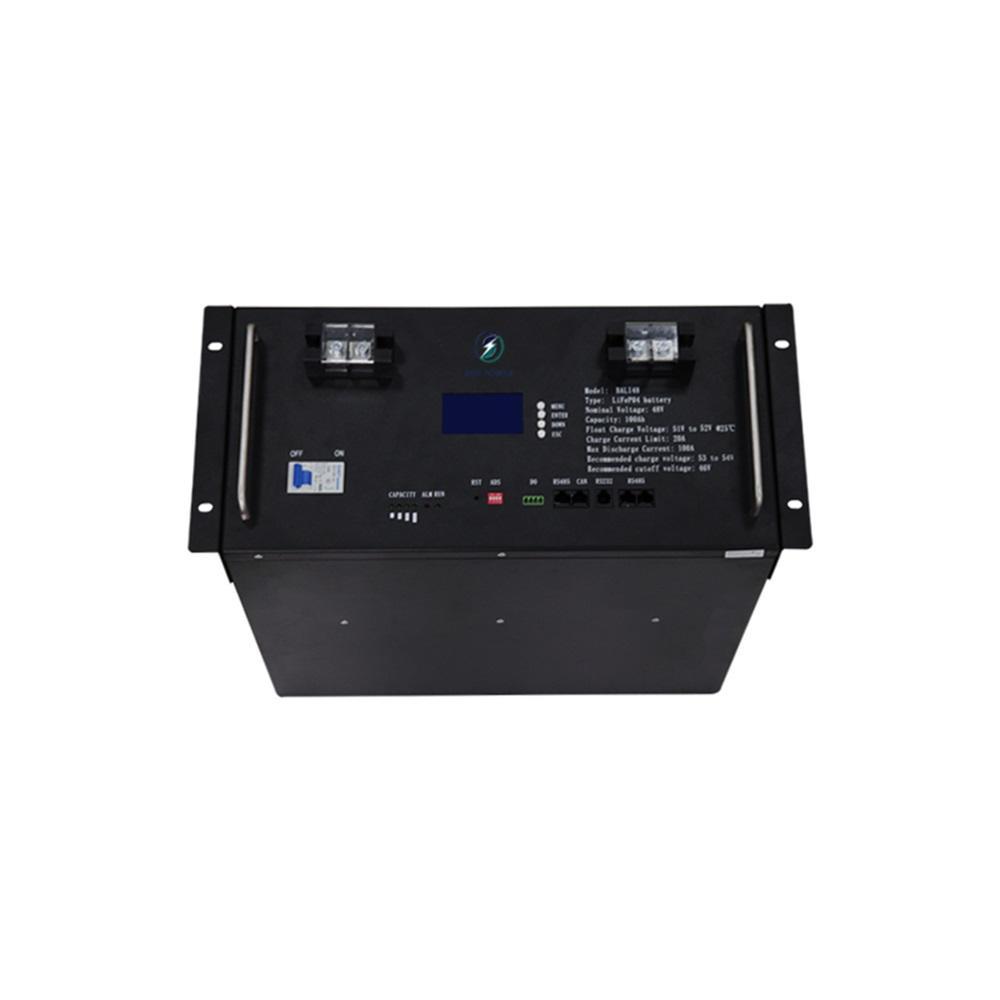 High quality 100Ah lcd display four-terminal environmentally friendly 48V rack-mounted lifepo4 lithium battery