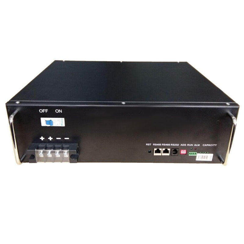 High quality 50Ah black for 48V rack-mounted lifepo4 lithium battery for telecom tower
