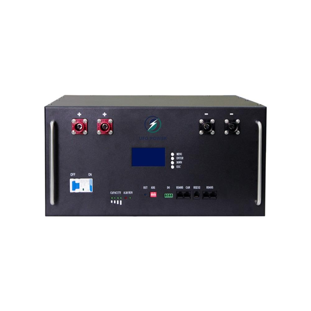 Top selling 100ah large-capacity lcd display, black 48v rack-mounted lifepo4 lithium battery