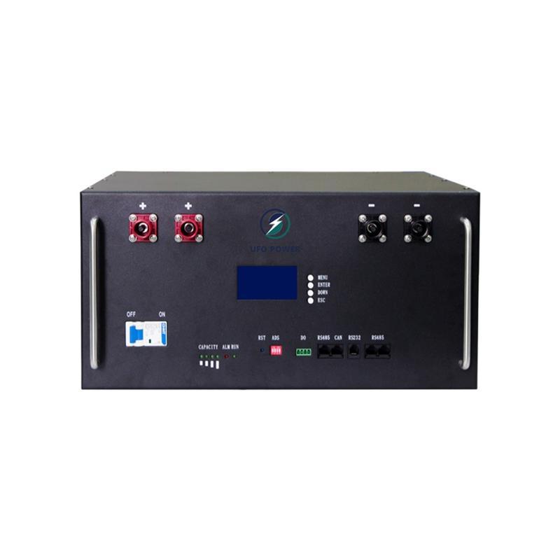 Top selling 100ah large-capacity lcd display, black 48v rack-mounted lifepo4 lithium battery